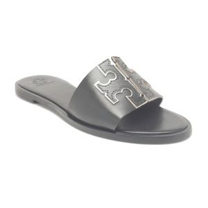 Tory Burch Ines Slides in Perfect Black Size 8 & 9